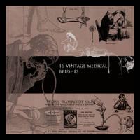 Vintage Medical Brushes Set 1 by FidgetResources