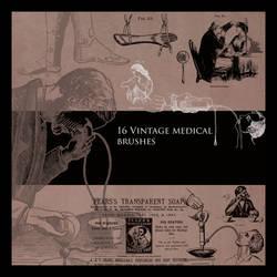 Vintage Medical Brushes Set 1