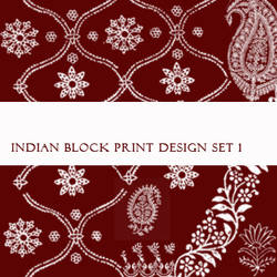 Indian Block Print Brushes No1