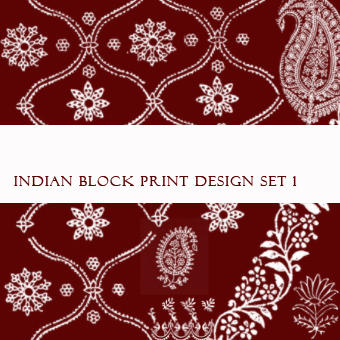 Indian Block Print Brushes No1 by FidgetResources