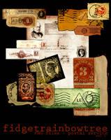 PNG - Vintage Postal Service - Set 1 by FidgetResources