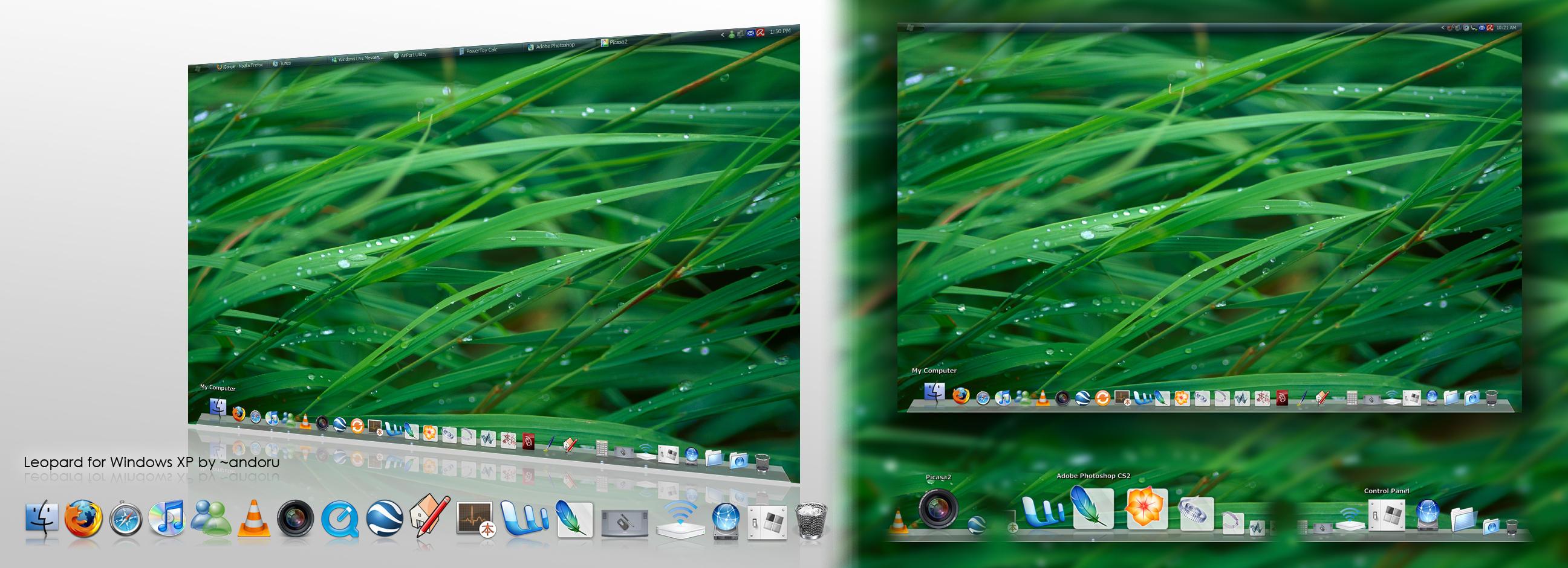 Leopard Dock for Windows XP by andoruhaku