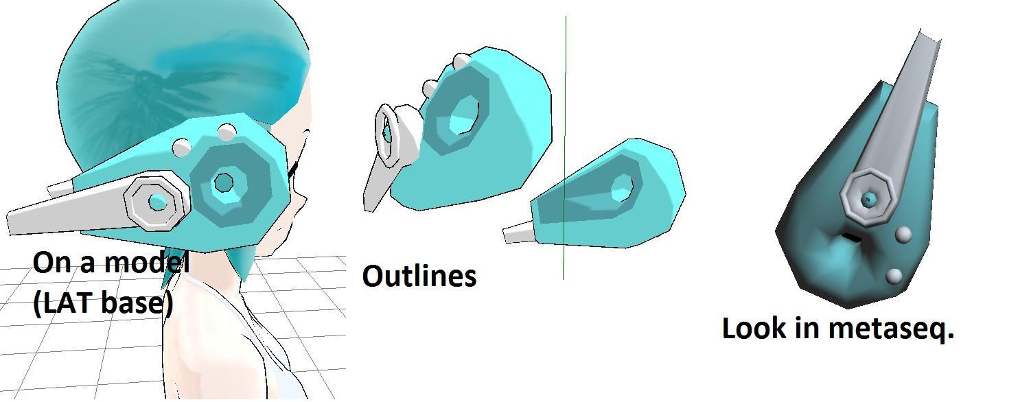 MMD Cyberbun earwings FIXED by NotOriginalUsername