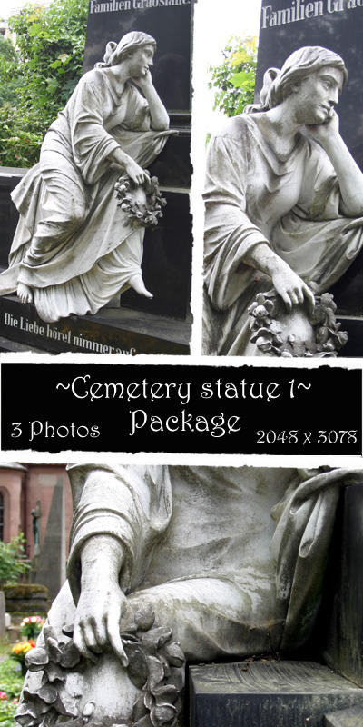 Cemetery statue package 1 by almudena-stock