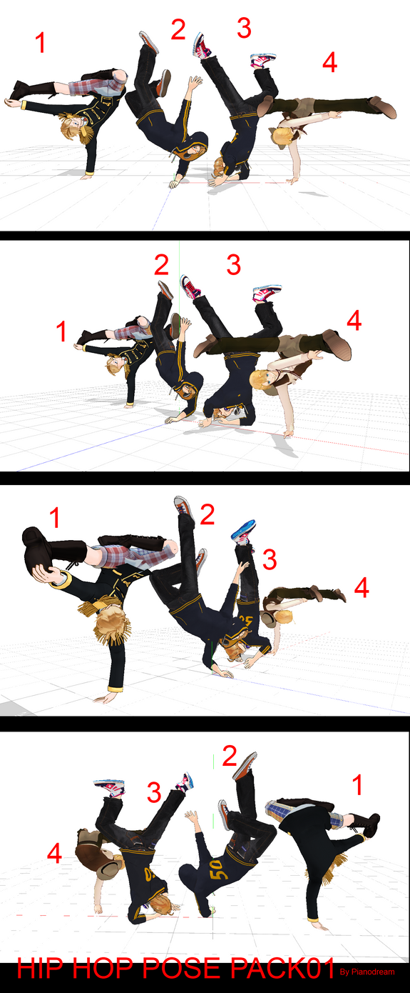 MMD Hip Hop Dynamic Poses PACK 01 DOWNLOAD by Pianodream ...