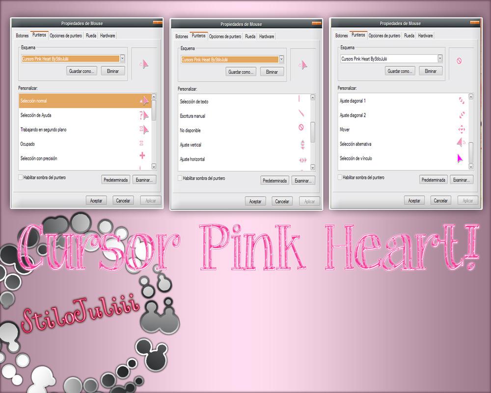 Cursors Pink Heart by StiloJuliii
