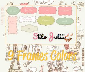 Frame Colors Png's By StiloJuliii by StiloJuliii