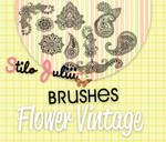 Flowers Vintage Brushes By StiloJuliii