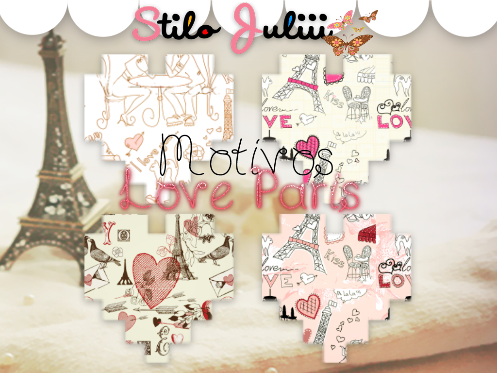 I Love Paris Wallpaper cartoon : Love Paris Motivos by StiloJuliii on DeviantArt