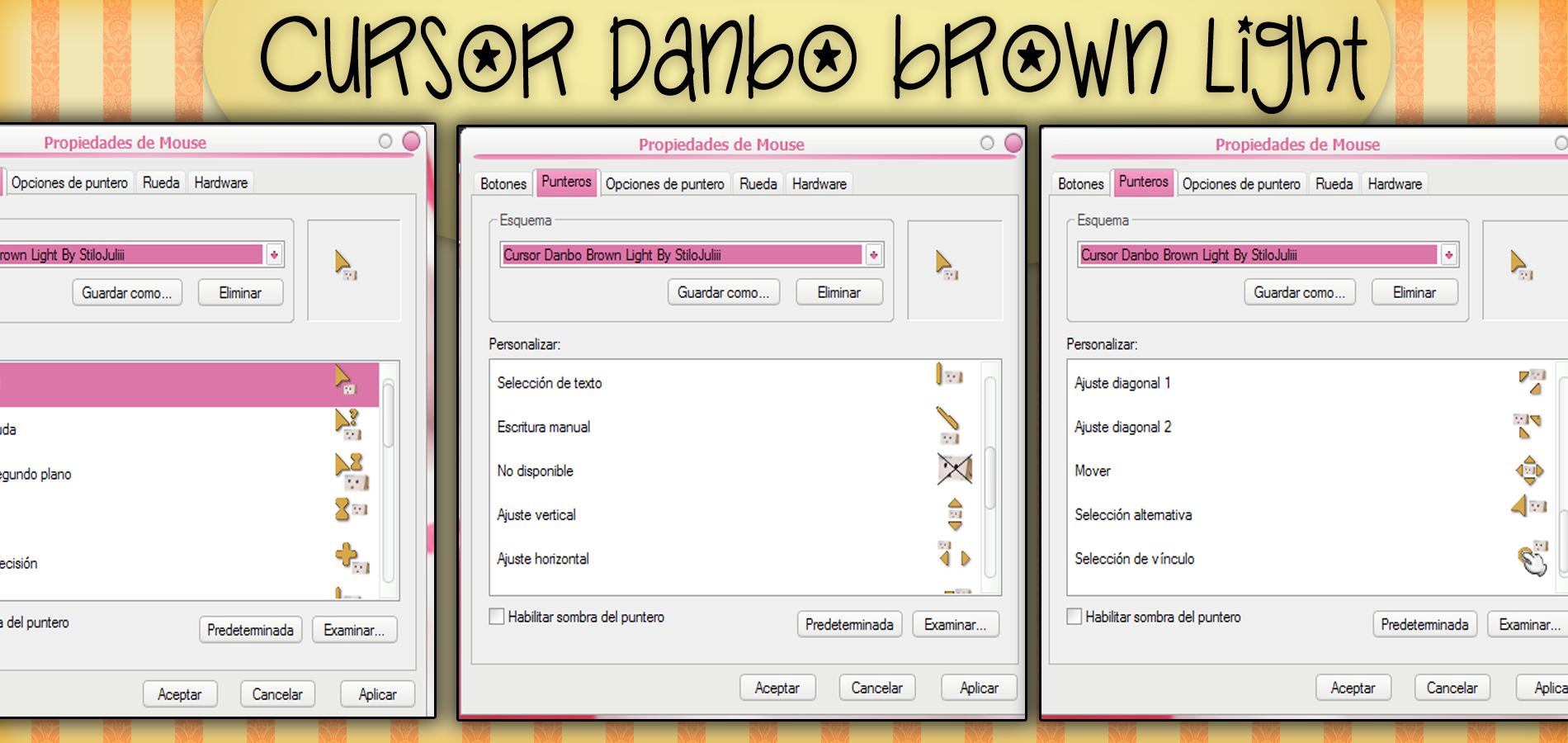 Danbo Brown Light Cursor By StiloJuliii by StiloJuliii