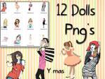 12 Dolls PNG'S StiloJuliii