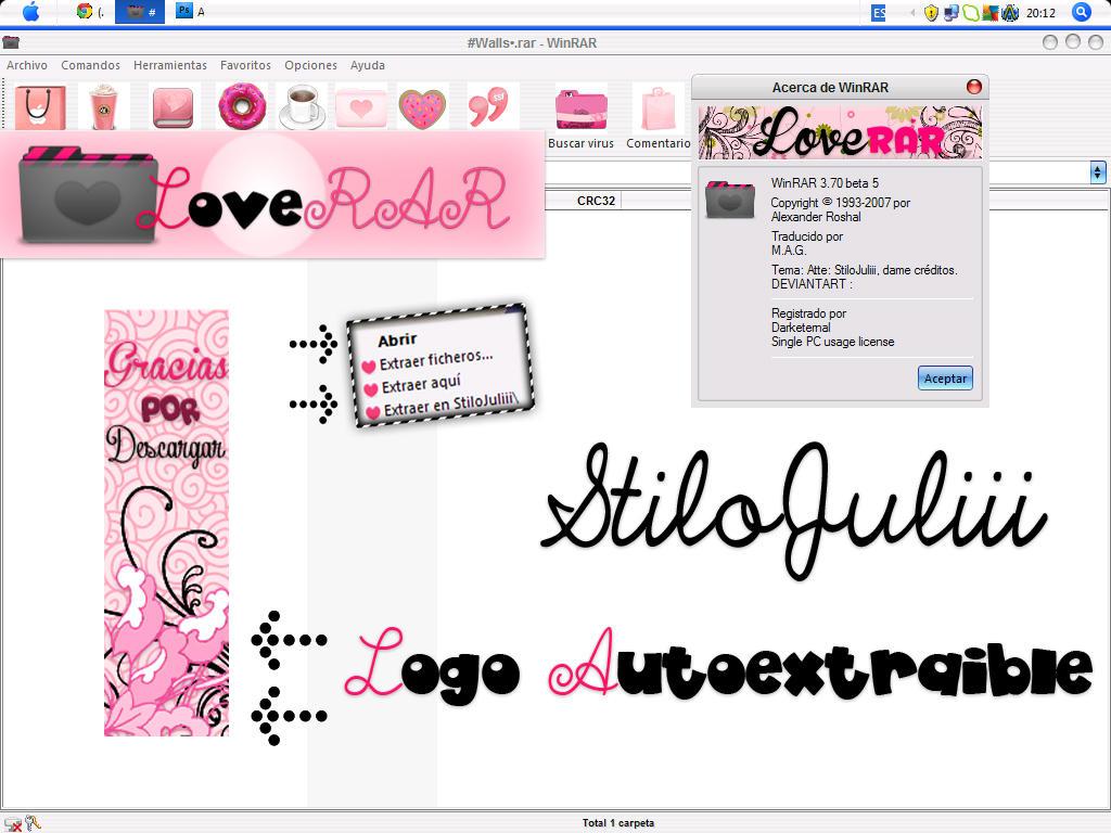 LoveRAR for Winrar StiloJuliii by StiloJuliii