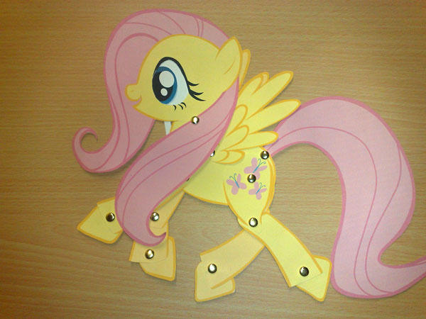 Paper Toy: Fluttershy by Trunksi