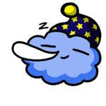 Sleeping Cloud Animated