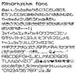 Minorhythm font