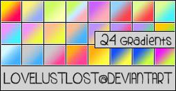 24 Photoshop Gradients by LoveLustLost