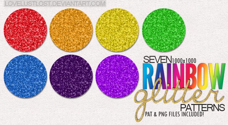 Rainbow Glitter Patterns by LoveLustLost