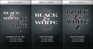 Black and White Icons Pack-1