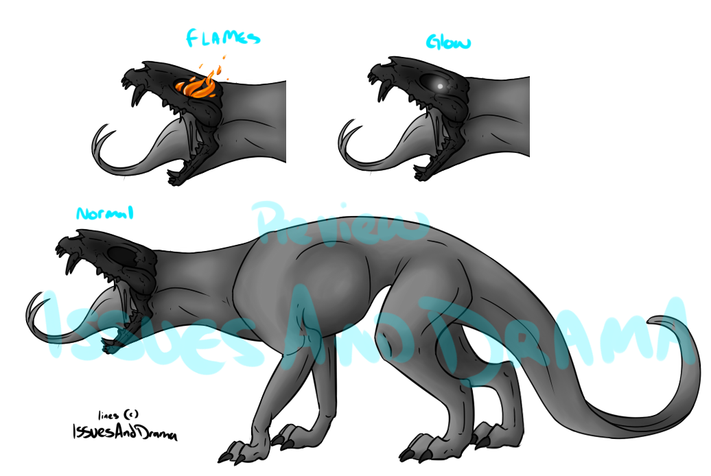 FREE USE Hellhound base .:updated version:. by IssuesandDramaAdopts