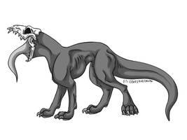 Hellhound Base by IssuesandDramaAdopts