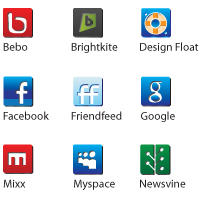 Social Network Icons by Bugtutorial
