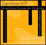Caprichosa WIP