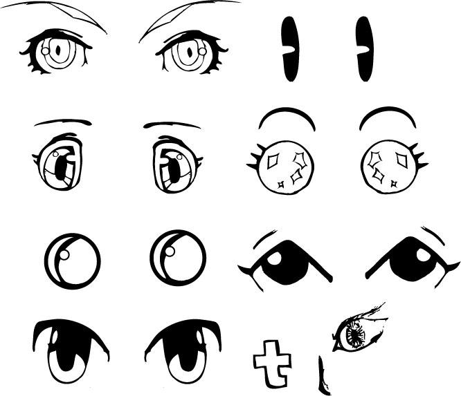 anime eyes drawing. Vector Anime Eyes by ~hetoan2