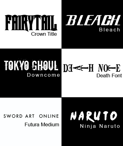 Anime Fonts 01 by IsaGall on DeviantArt