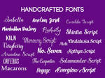 Pack Handcrafted fonts