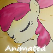 Applebloom sleeping - animated by alfa995