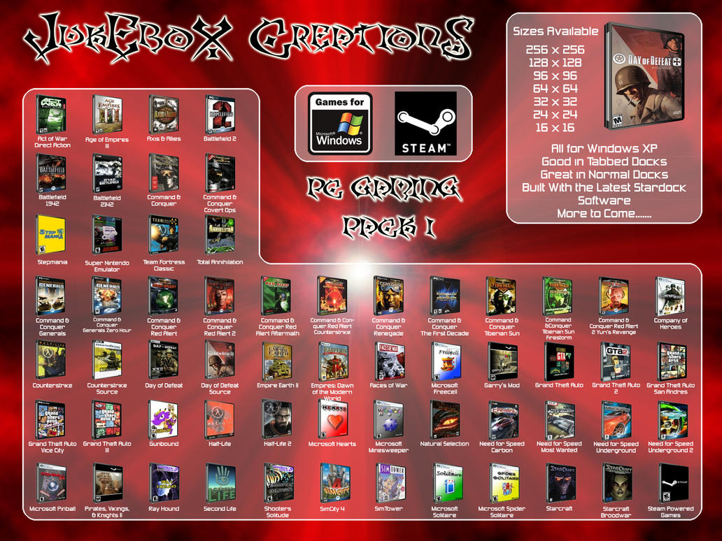 JukEboX CreationS - Game Pack V1.0 by JukEboXAuDiO