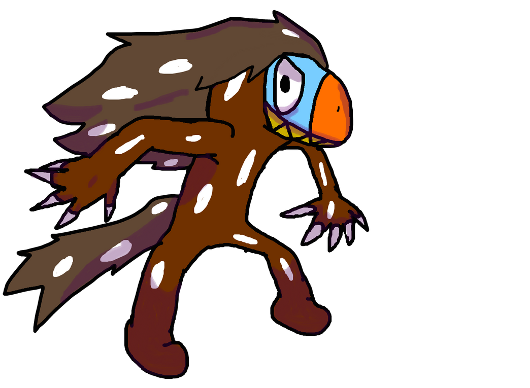 Dromaeosaurus battle sprite by StrangeYoshi12