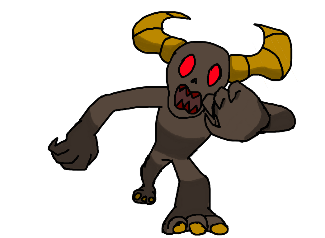 Demon Battle Sprite by StrangeYoshi12