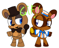Freddy y Tom Nook by Mentita-Kirby