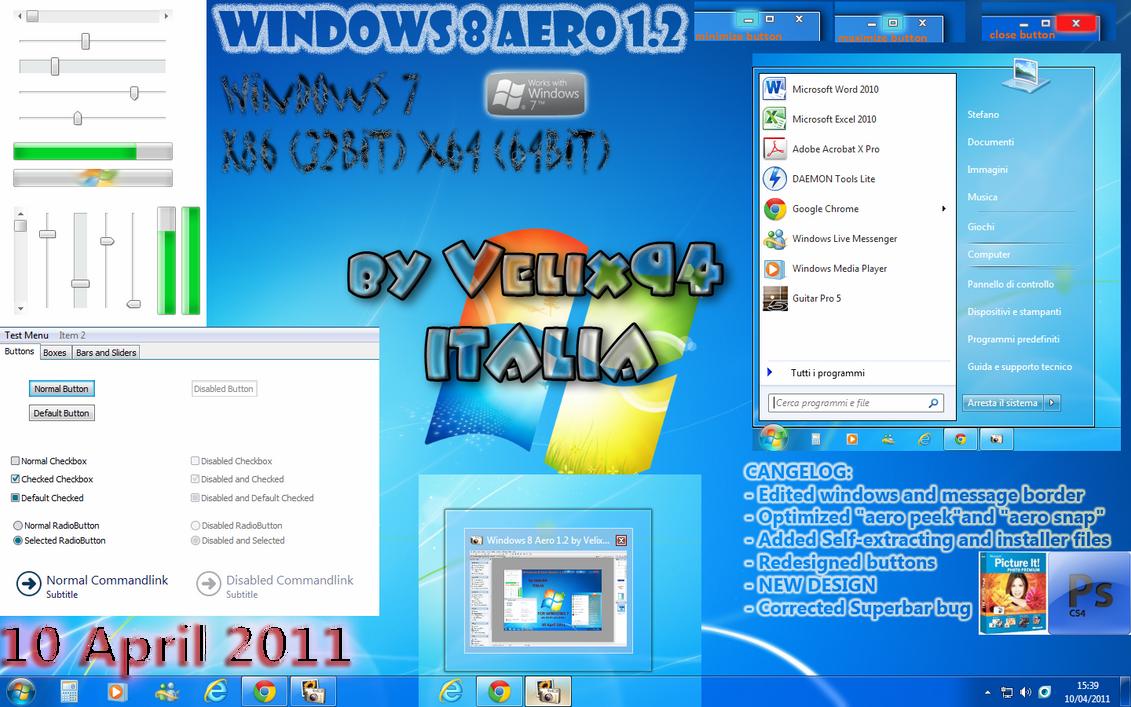 Windows 8 Aero 1.2 by Velix94