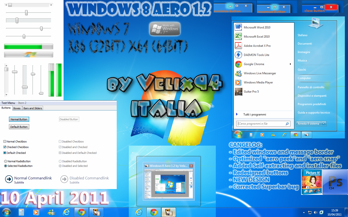 Windows 8 Aero 1.2 by Velix94