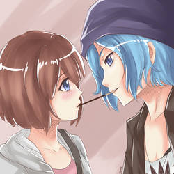 Max and Chloe Pocky Game