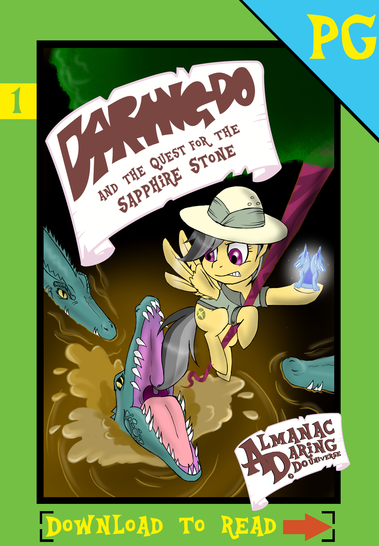 (1) Daring Do and the Quest for the Sapphire Stone by AlmanacPony
