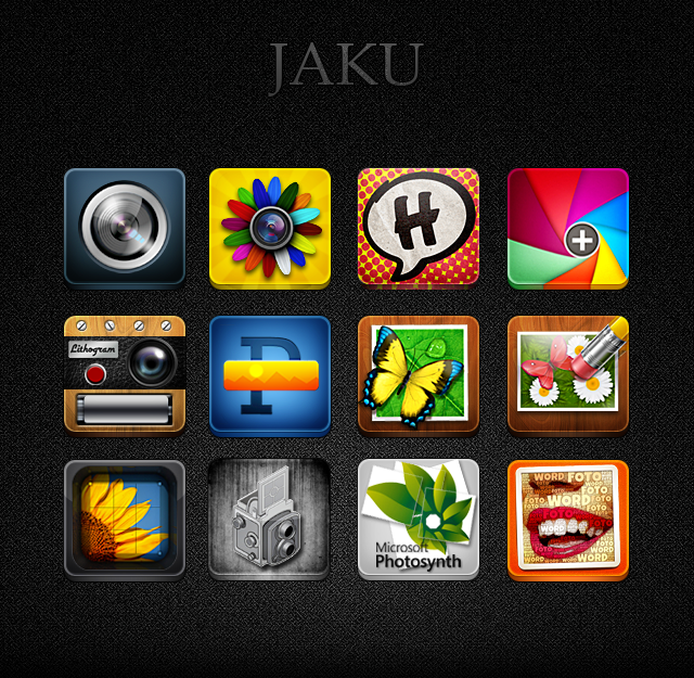 Photography Apps for Jaku iOS Theme by pedrocastro