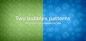 Two bubbles patterns