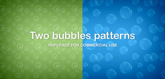 Two bubbles patterns by DuckFiles