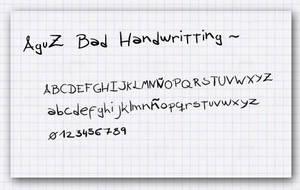 AguZ Bad Handwritting
