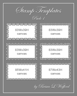 Stamp Templates Pack 1 by TheLoveTrain