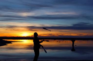 Sunset Juggle by floatingnemophilist