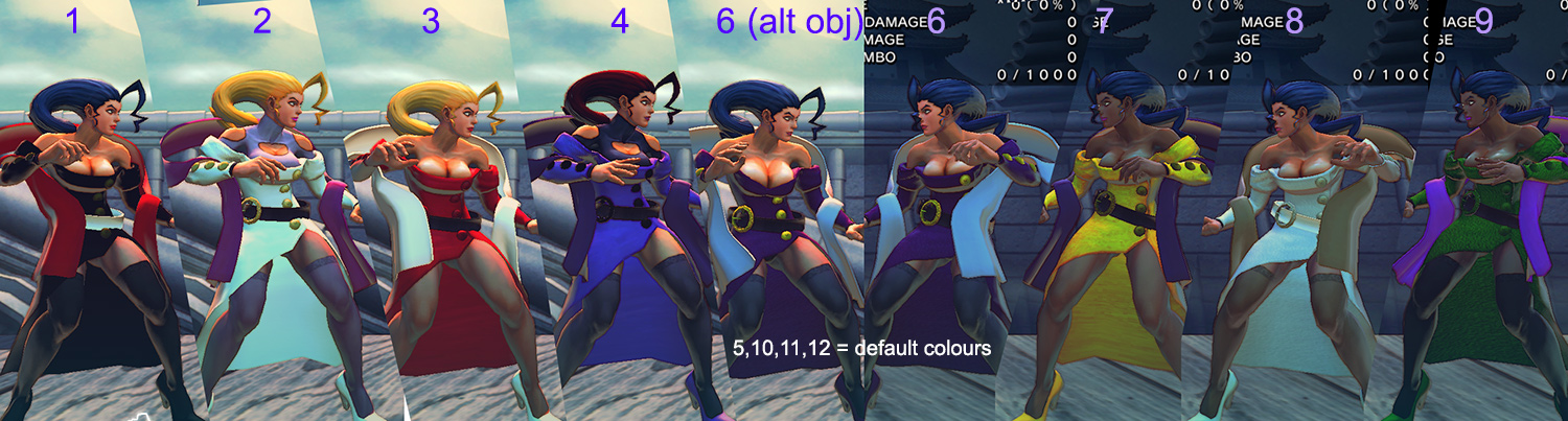 USF4 Rose style mod, new colours by E-nzo
