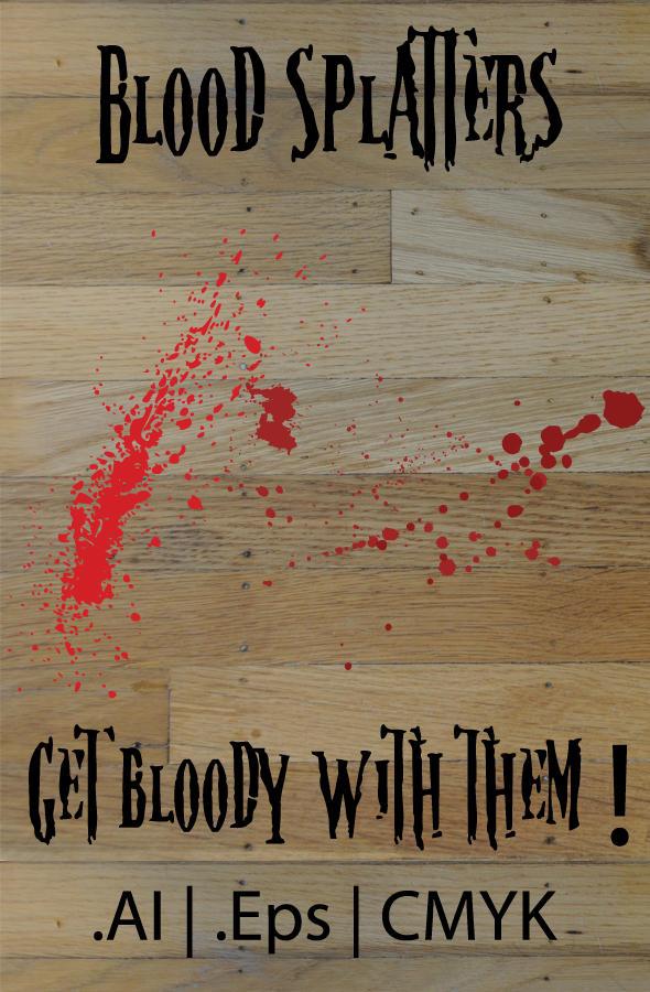 Blood Splatter Vectors by Hypax