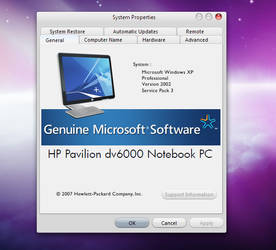 HP System Properties