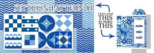 Set icon pattern #1 by SeroDuong