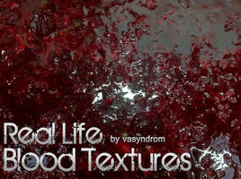 Real Life Blood Textures