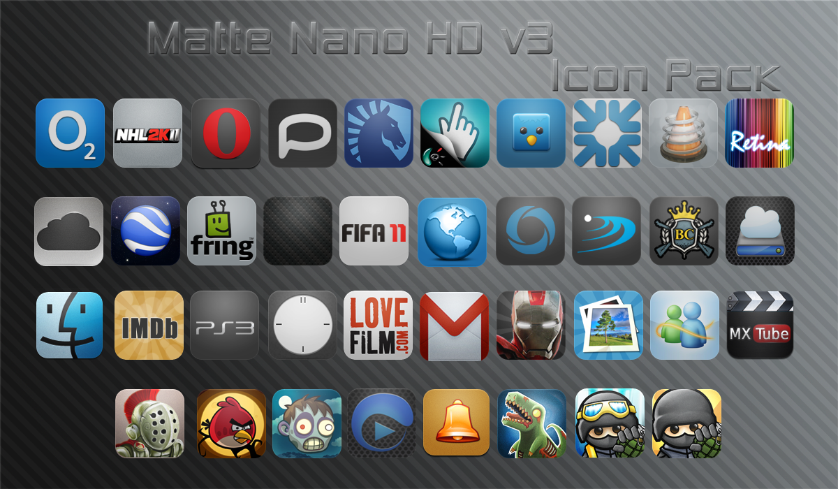 Matte Nano HD v3 Icon Pack by vasyndrom